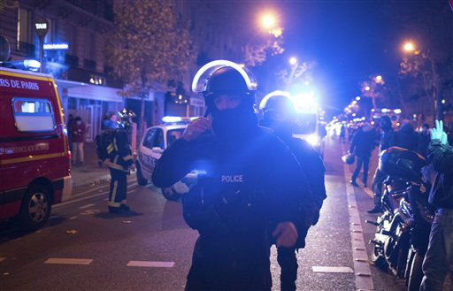<div class='meta'><div class='origin-logo' data-origin='none'></div><span class='caption-text' data-credit='AP Photo / Kamil Zihnioglu'>Elite police officers arrive outside the Bataclan theater  in Paris, France, Wednesday, Nov. 13, 2015.</span></div>