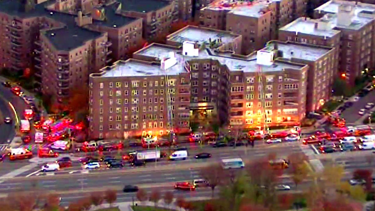 Apartment Building Queens fire at apartment building in forest hills, queens under control