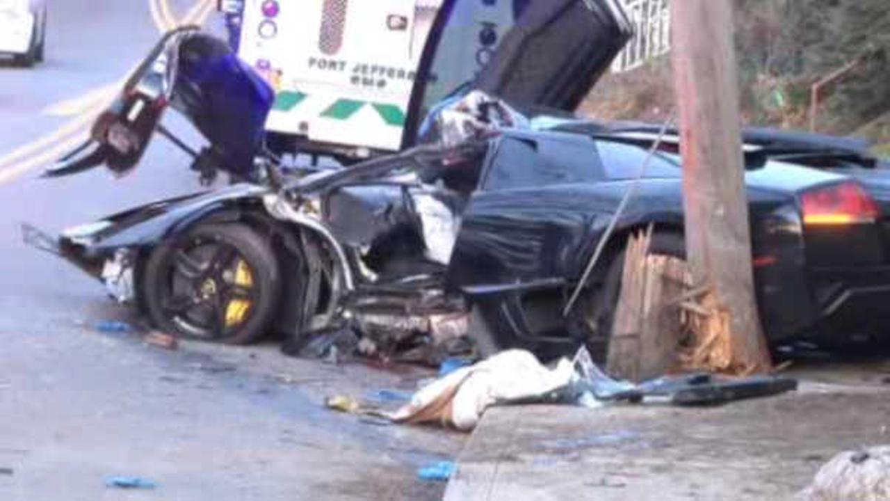 Driver killed after Lamborghini slams into telephone pole in Port Jefferson; police investigating
