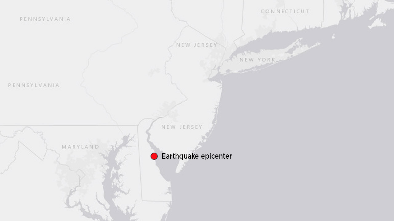 Natural disaster  reported along East Coast, felt in NYC area