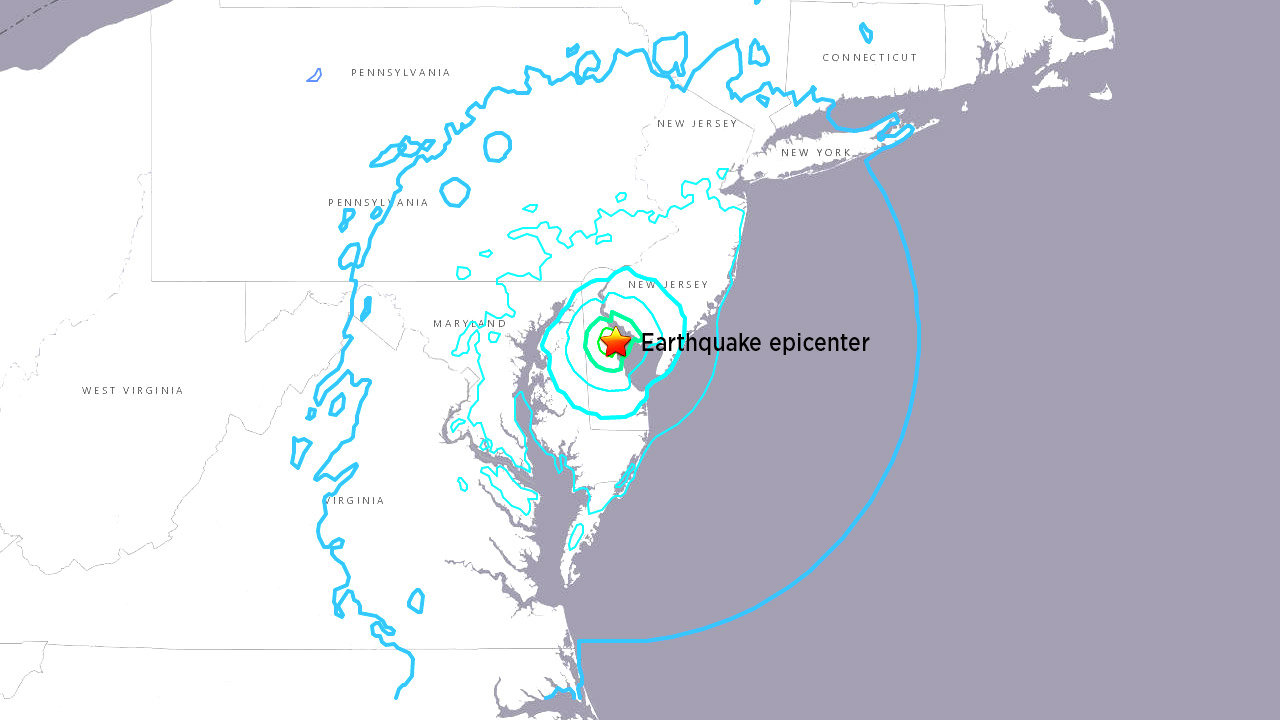 4.4-Magnitude Earthquake Hits Near Dover, Del. - Felt Along East Coast