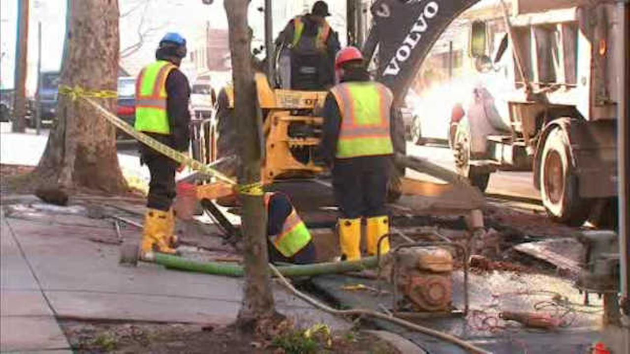 Crews in Jersey City repairing second water main break in three days