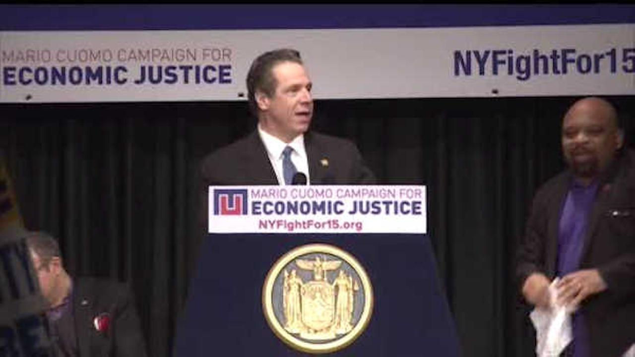 Cuomo calls for raising statewide minimum wage to $15 per hour