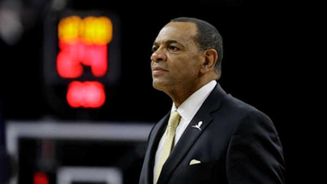 Ex-Nets head coach Lionel Hollins during Saturdays game against Detroit.  (AP Photo/Carlos Osorio)