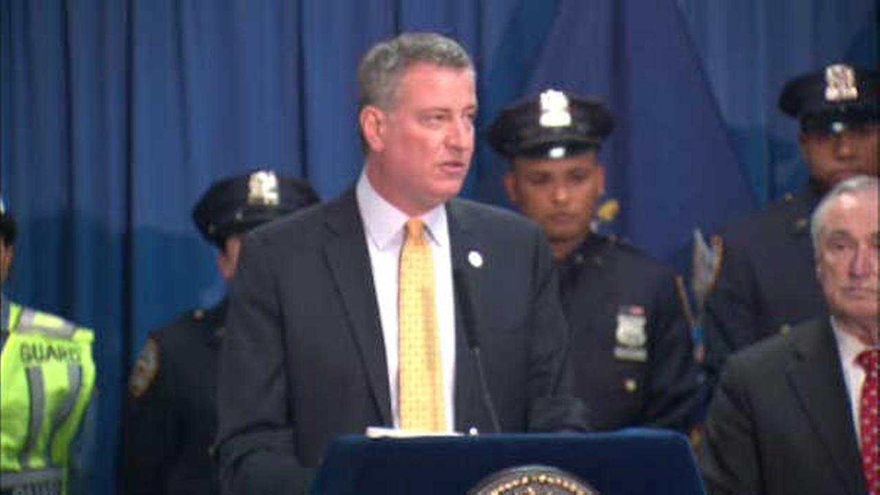 Mayor Bill de Blasio unveiling new plan to curb gun violence