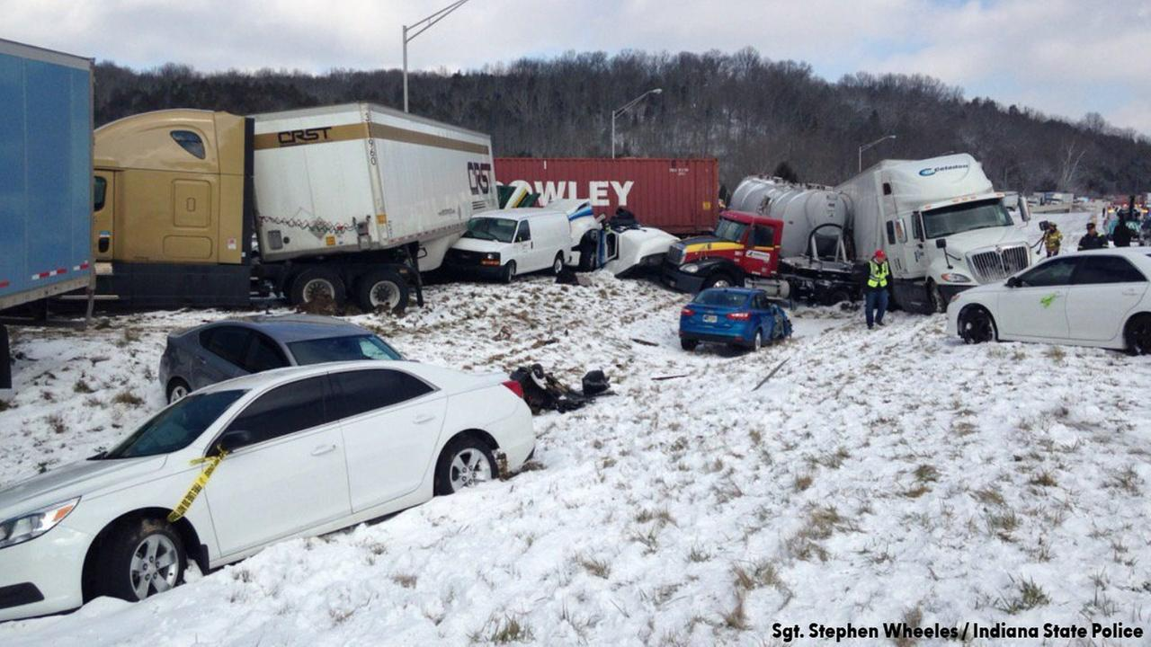 40 vehicles involved in massive snowstorm pile-up crash near Indiana-Ohio state line