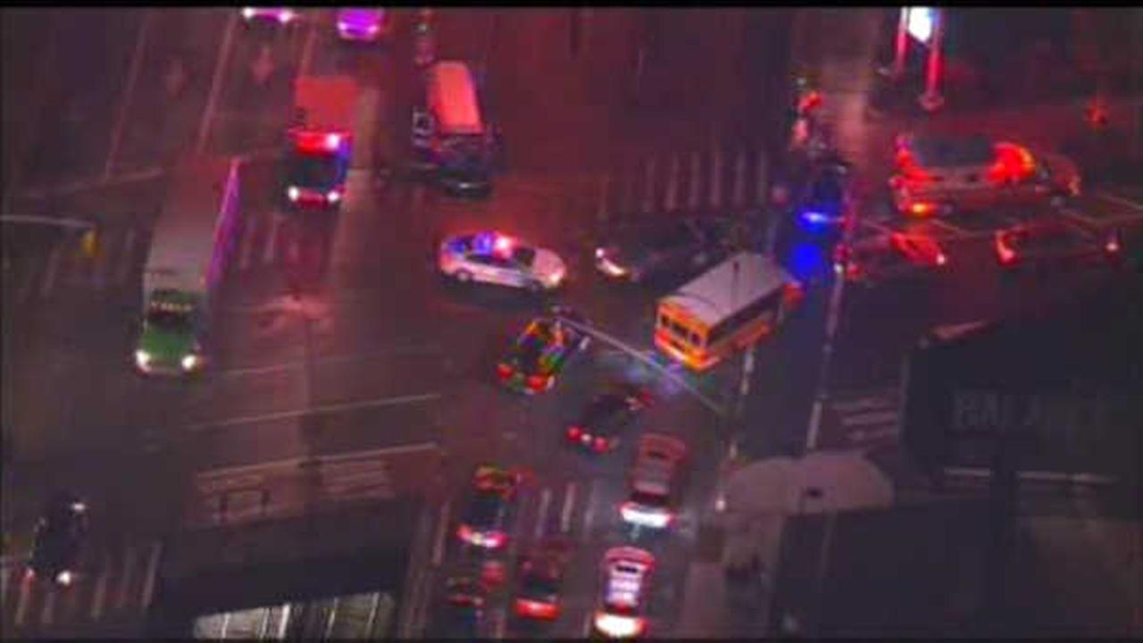 At least 2 hurt after accident involving school bus and ambulance in Brooklyn
