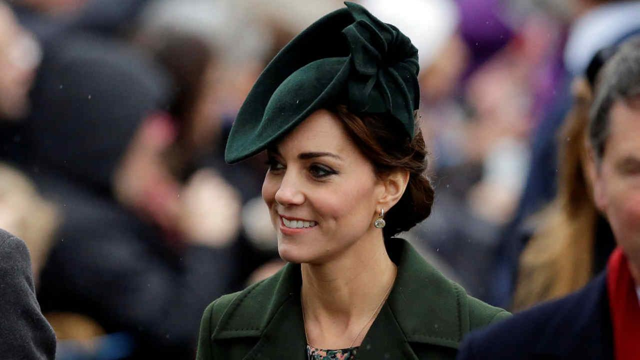 In this Friday, Dec. 25, 2015 file photo, Kate the Duchess of Cambridge arrives to attend their traditional Christmas Day church service, at St. Mary Magdalene Church.