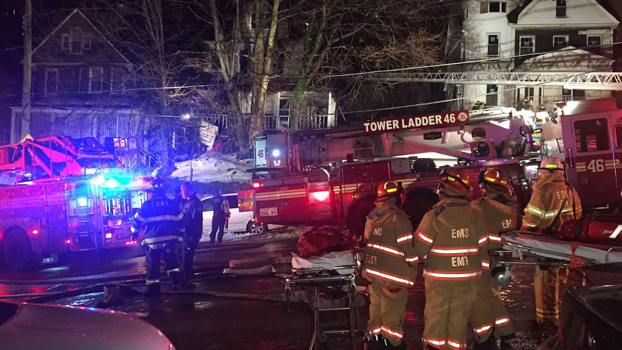 1 person critically injured in Bedford Park fire