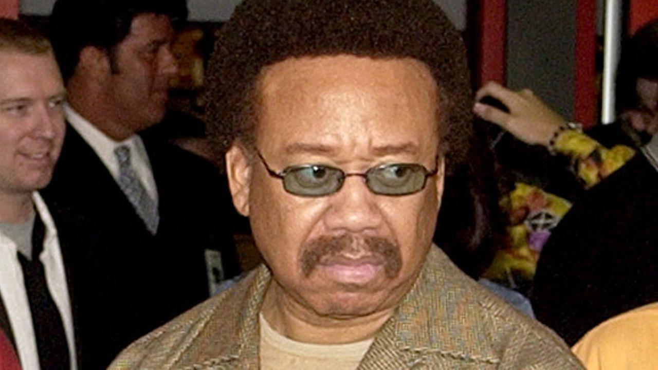 In this July 7, 2003 file photo, Maurice White, of Earth, Wind, and Fire, appears at an induction ceremony at the Hollywood Rock Walk in the Hollywood section of Los Angeles.