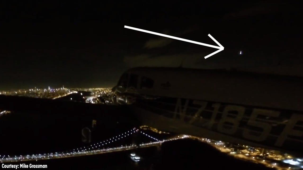 Pilot captures video of shooting star while flying over George Washington Bridge