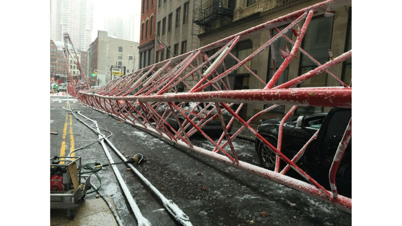 PHOTOS: Fatal crane accident in TriBeCaFDNY