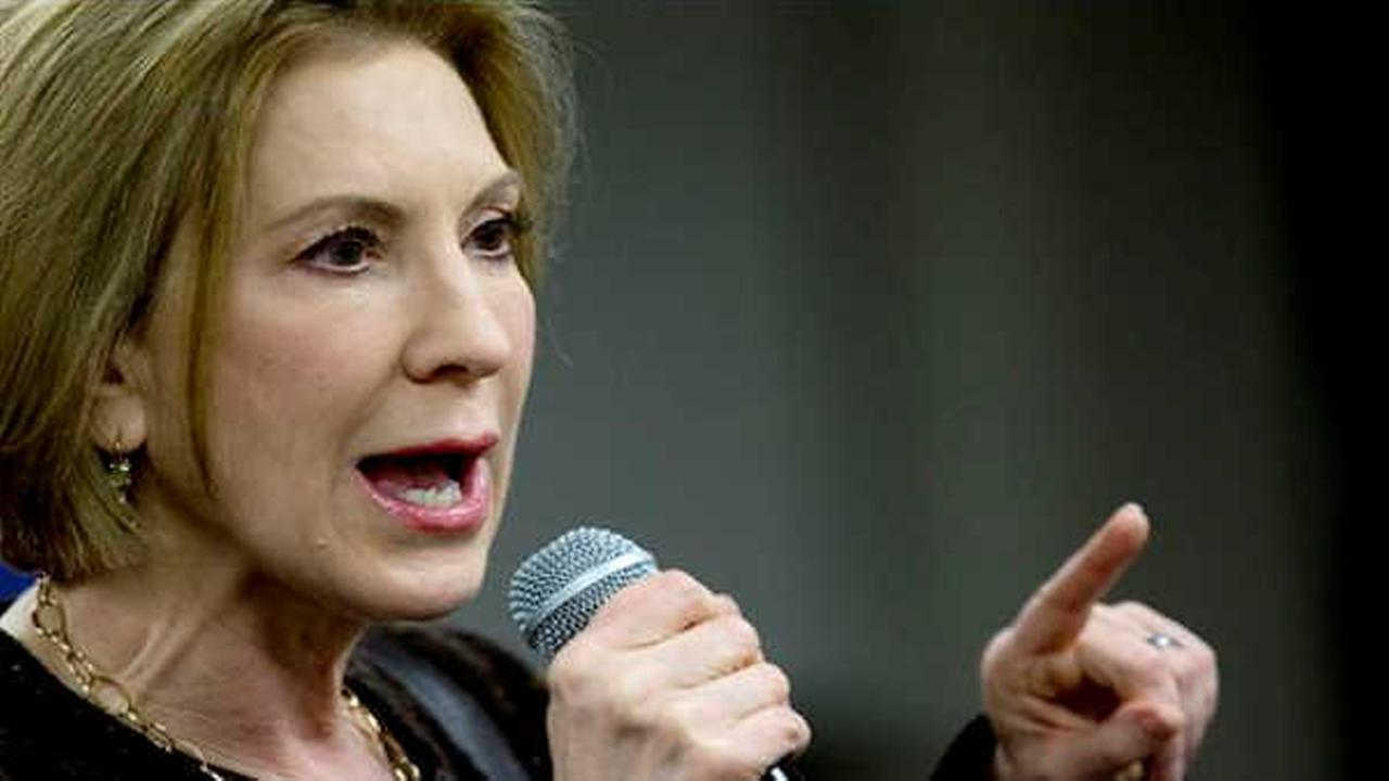 Carly Fiorina speaks during a campaign event at Iowa State University, Saturday, Jan. 30, 2016, in Ames, Iowa. (AP Photo/Mary Altaffer)