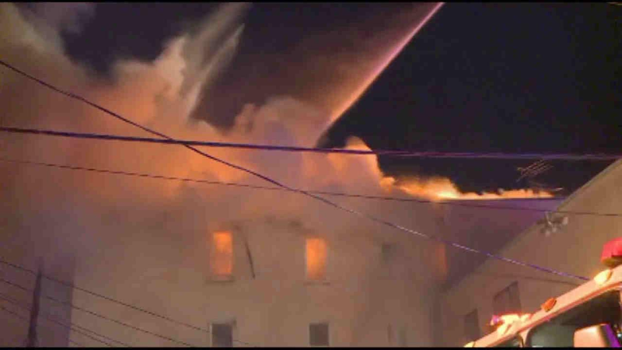 Paterson, New Jersey, apartment building damaged in fire