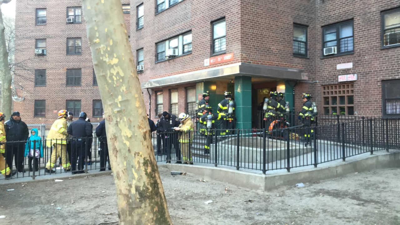 2 fighting for their lives after fire breaks out at Harlem housing complex