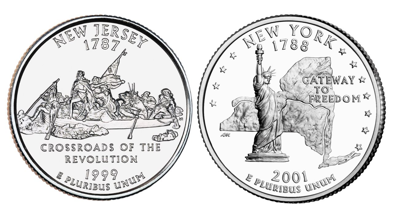 New state quarters 2015 - New York S First Quarter As Part Of That Program Was Released In 2001 And Featured The Statue Of Liberty Against An Outline Of The State