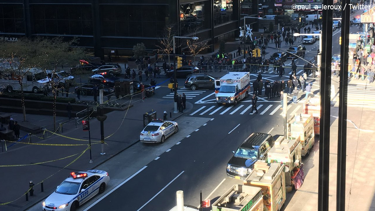 Vehicle  ploughs into New York City pedestrians
