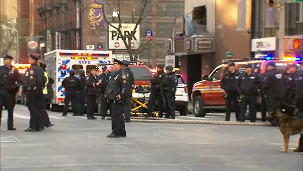 Arrest made as NYC police investigate explosion in midtown Manhattan