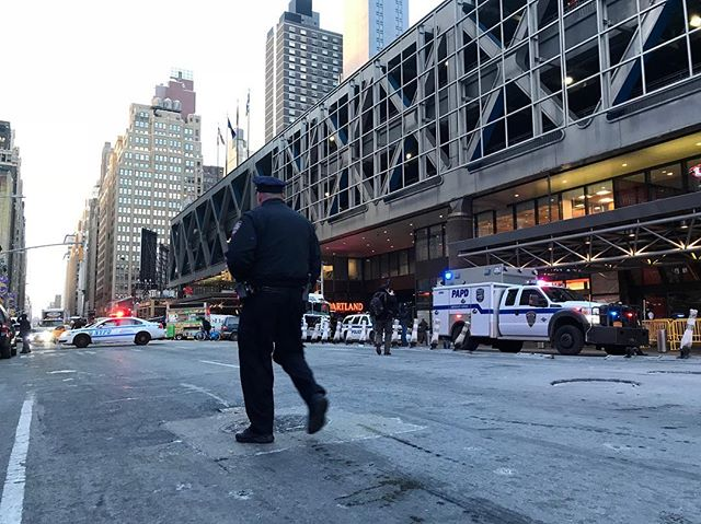 <div class='meta'><div class='origin-logo' data-origin='WABC'></div><span class='caption-text' data-credit='Amborjo via Instagram'>Photos from the scene of a pipe bomb explosion at the Port Authority Bus Terminal in Manhattan, New York City.</span></div>