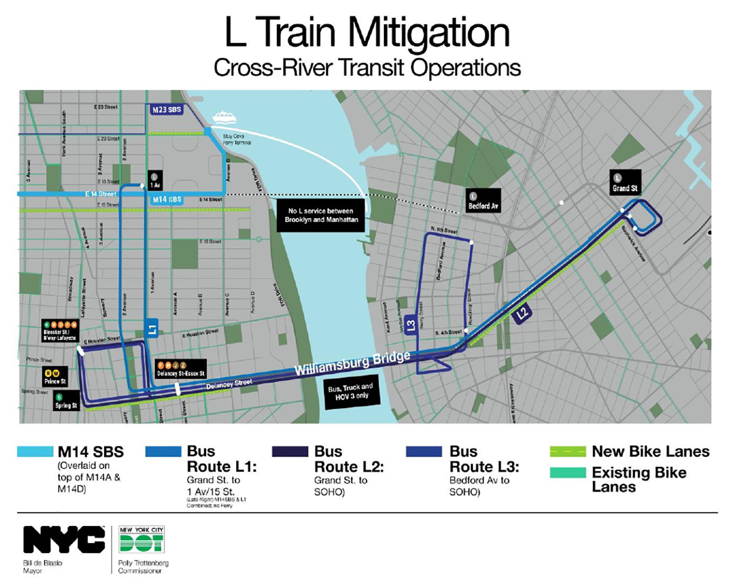 MTA, city release mitigation plans for L train shutdown