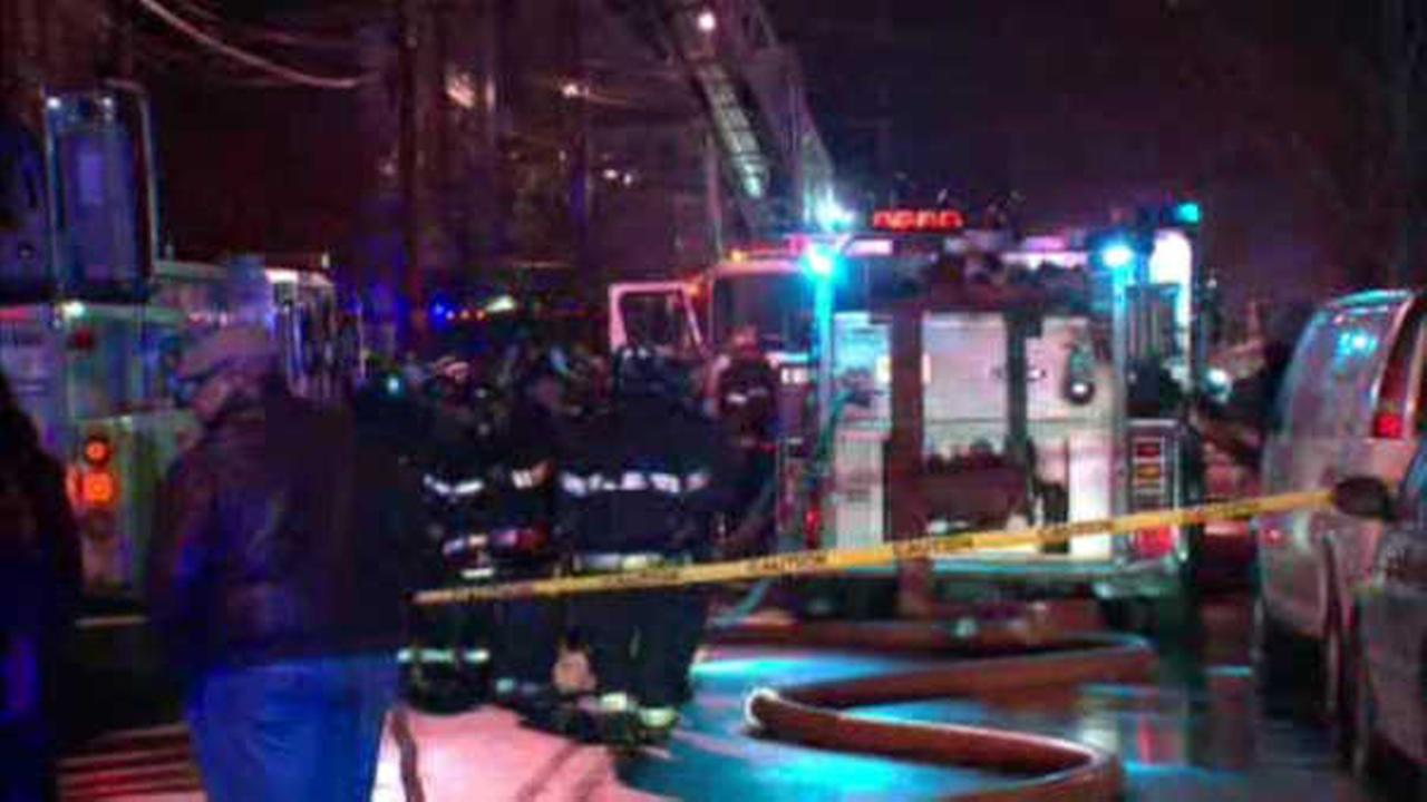 Brave passerby pulls man out of burning home in Newark
