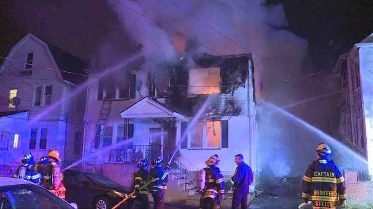 Union, NJ, house fire leaves 2 hurt