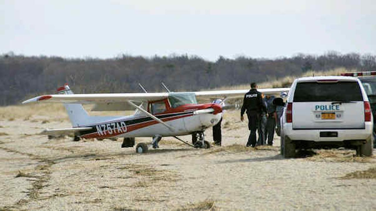 Small plane makes emergency landing on Long Island beach; No injuries