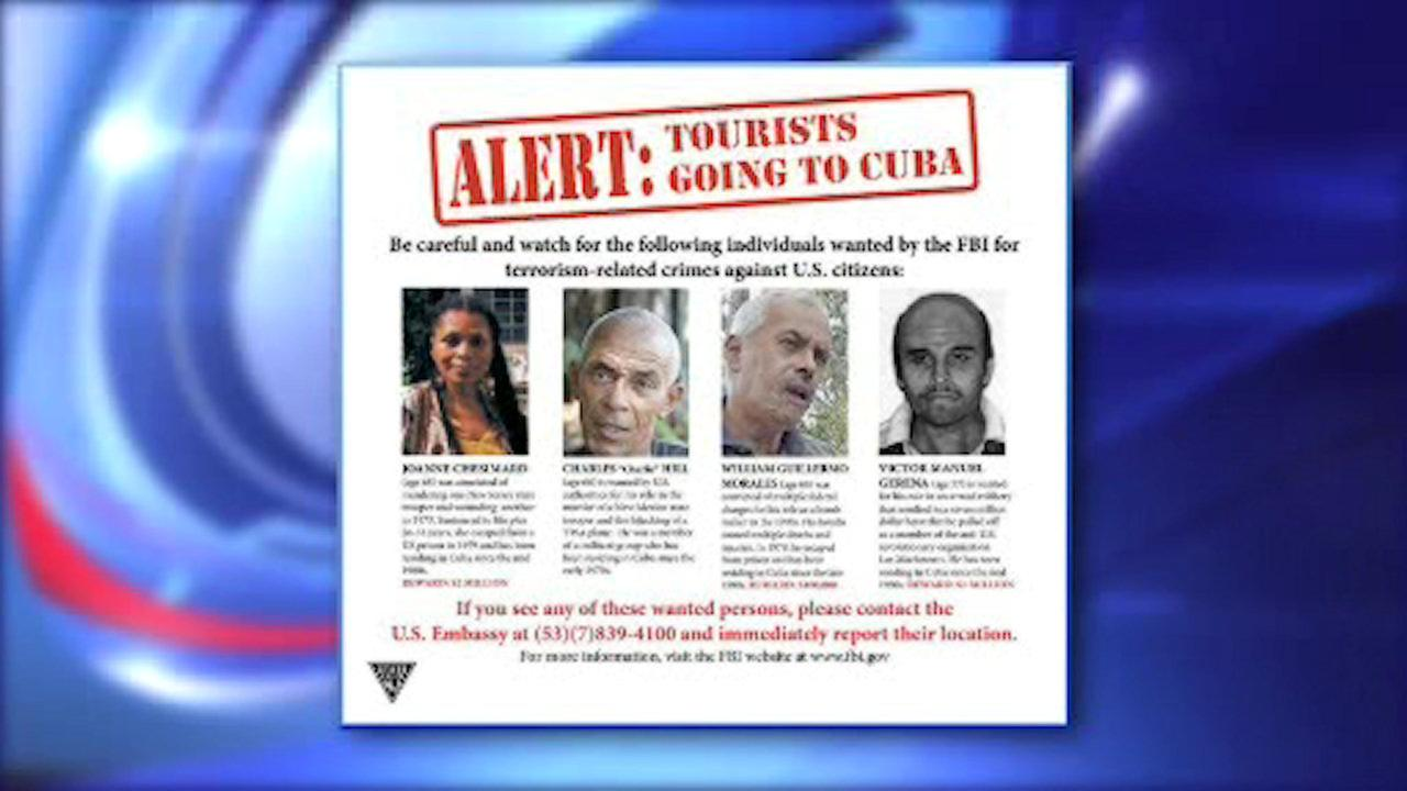 NJ State Police remind tourists to Cuba to be on the lookout for fugitives from US