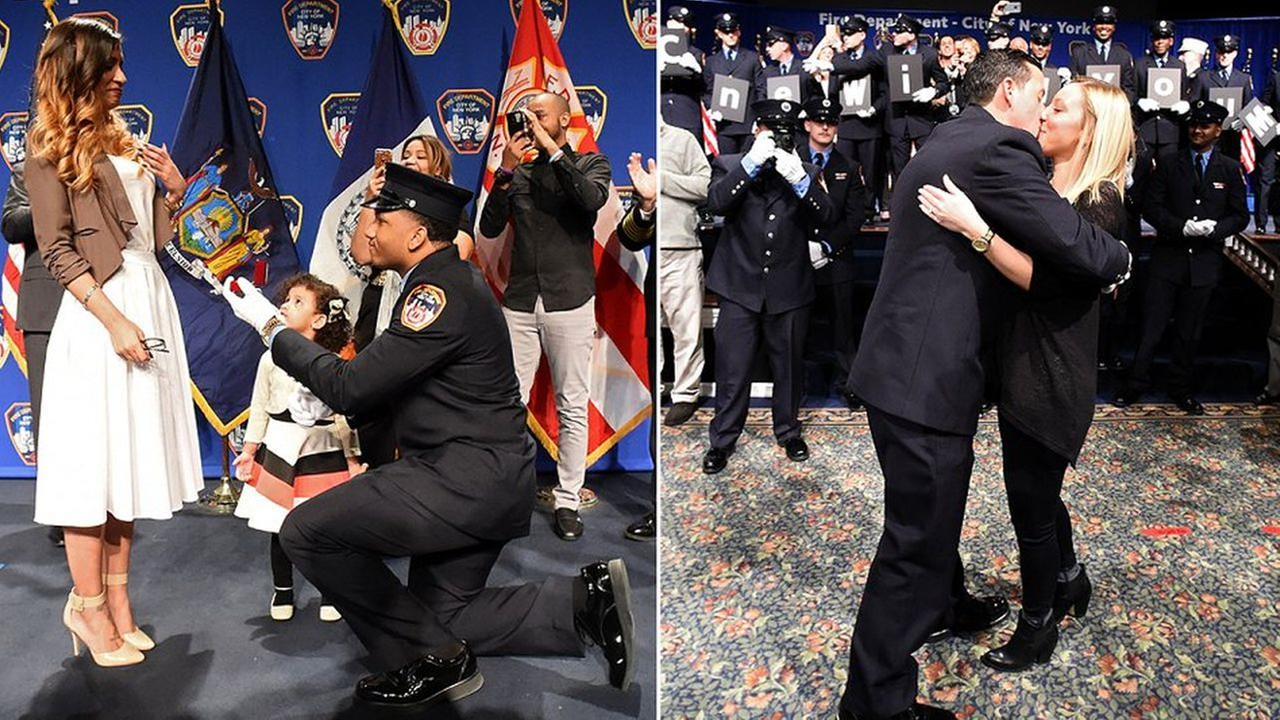 Photos: New EMTs pop the question at graduation ceremony