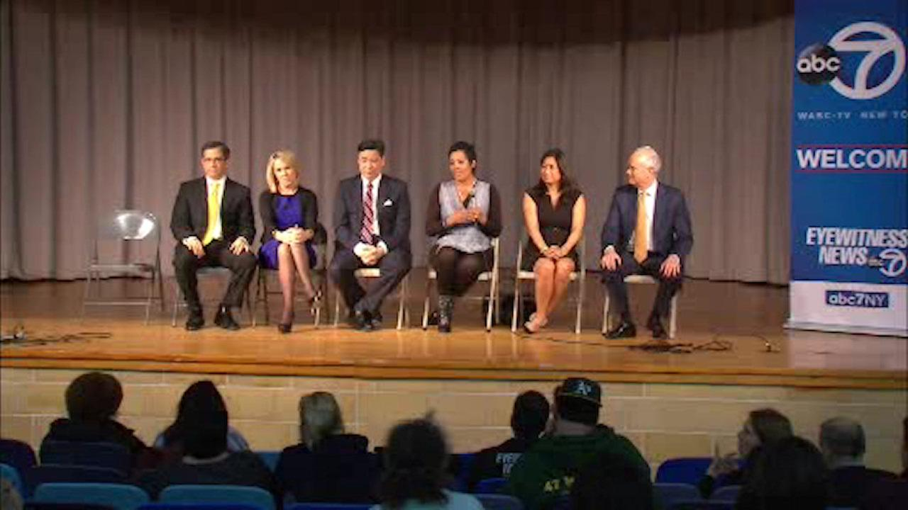 Eyewitness News anchors and managers answer viewer questions at town hall meeting in Yonkers