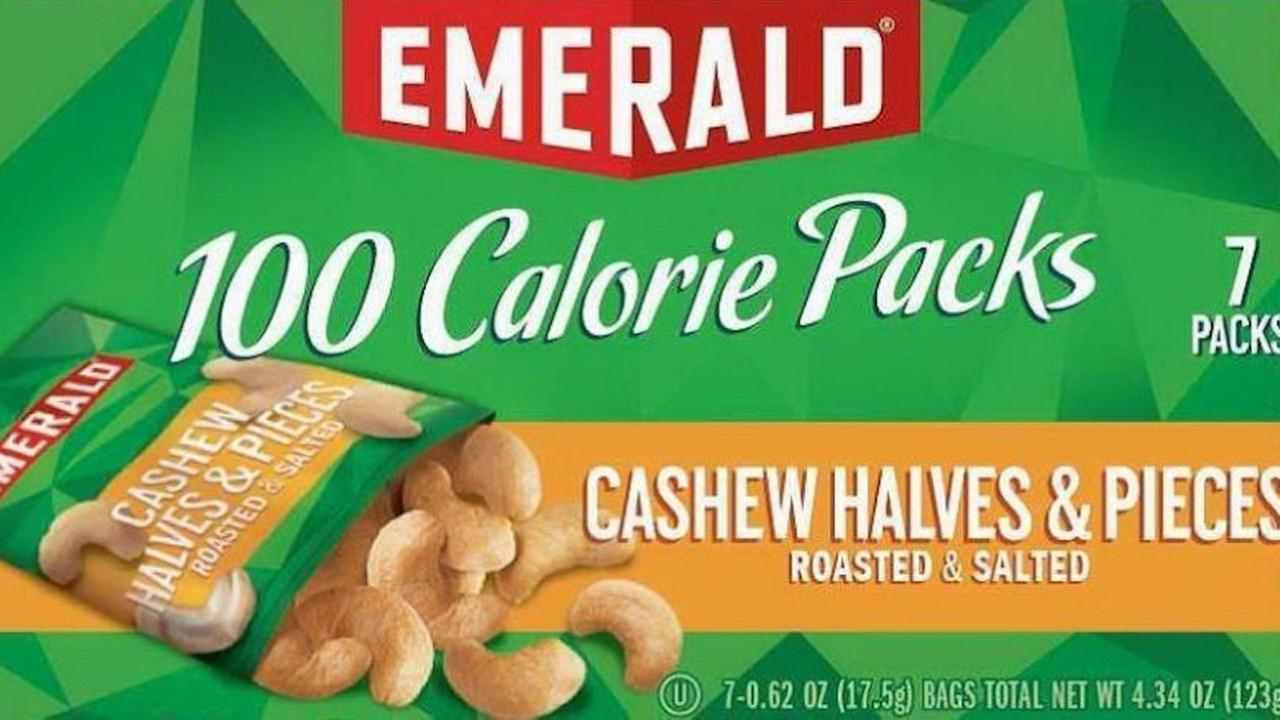 Voluntary recall for 100 calorie packs of Emerald nuts after potential glass in product