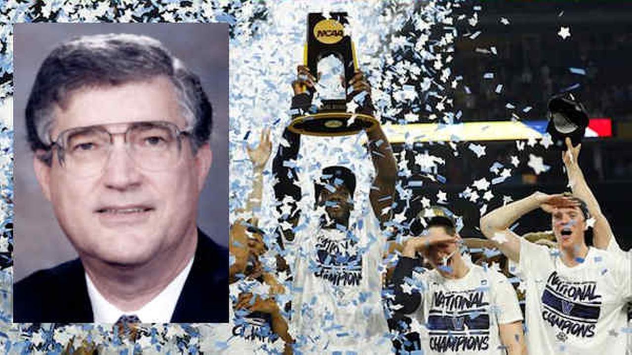 Villanova players celebrate the schools second NCAA title. (AP)