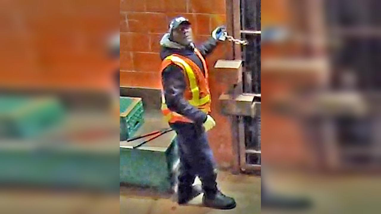 Suspect wanted for stealing power tools from Brooklyn subway station