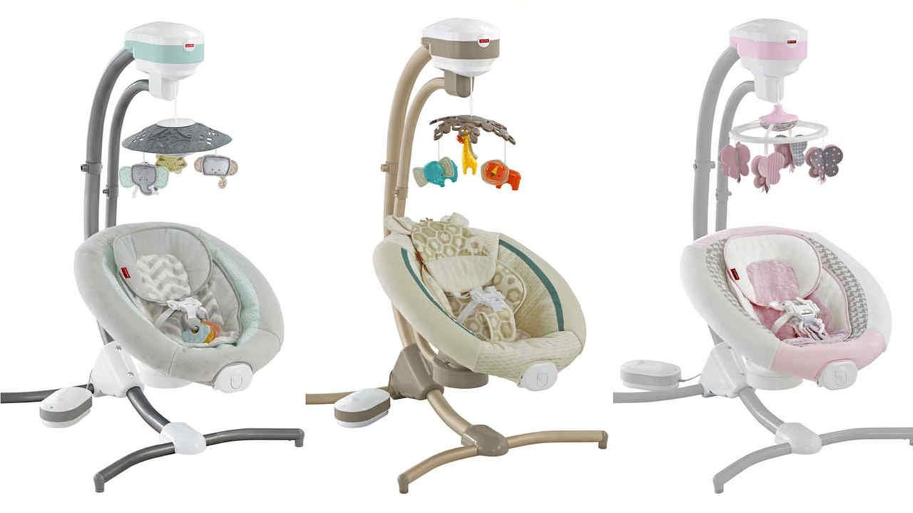 Fisher-Price recalls infant cradle swings due to fall hazard