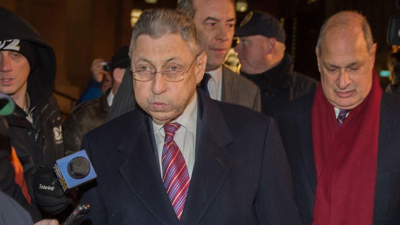 Former New York Assembly Speaker Sheldon Silver exits Manhattan federal court following his conviction on corruption charges, Monday, Nov. 30, 2015, in New York.
