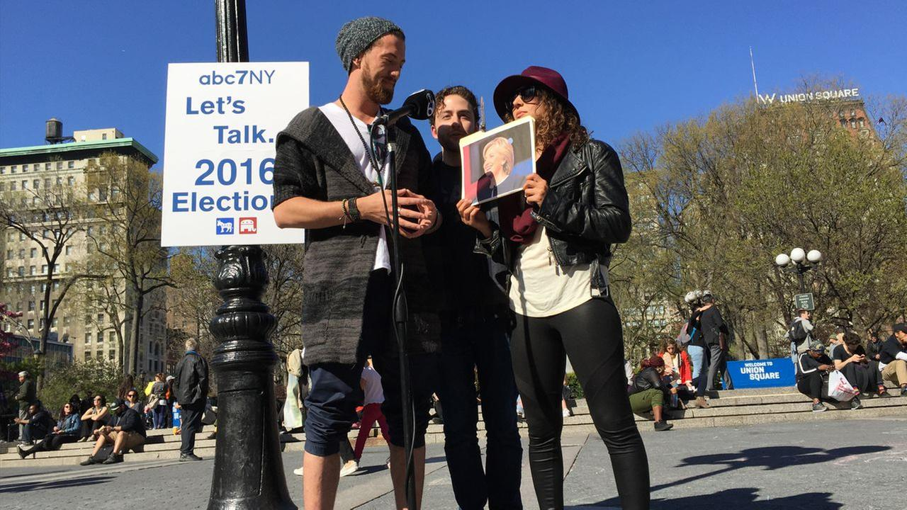 Video: New Yorkers talk 2016 elections at Union Square Park