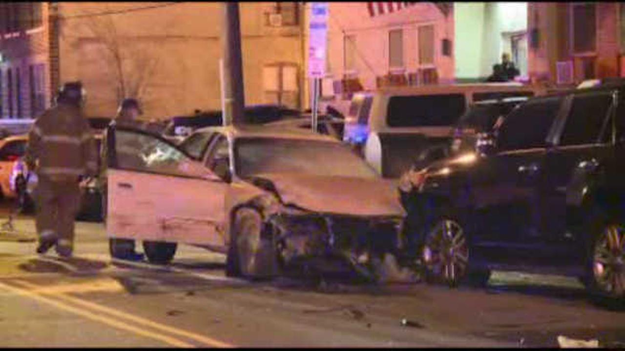 Suspect crashes stolen car in front of Jersey City police station