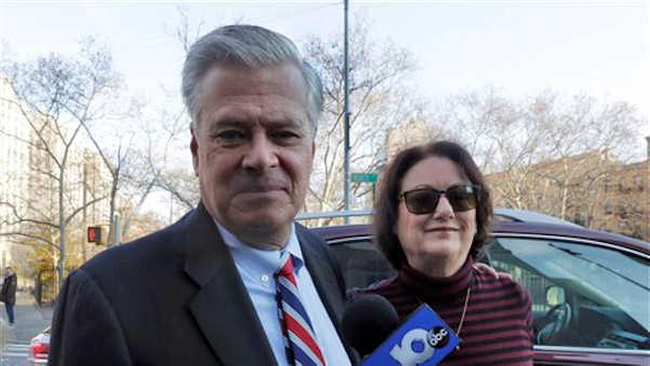 Former New York state Senate leader Dean Skelos and his wife Gail Skelos arrive at Federal court, in New York, Friday, Dec. 11, 2015. (AP Photo/Richard Drew)
