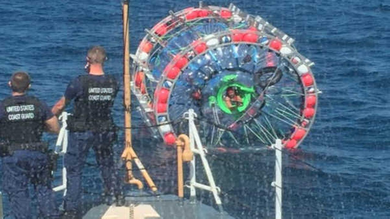 "Bubble burst: Man traveling to Bermuda in ""hydropod"" rescued at sea"