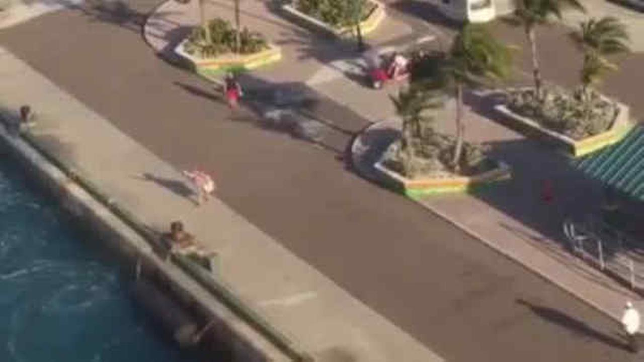 Mom watches cruise sail away with kids on board