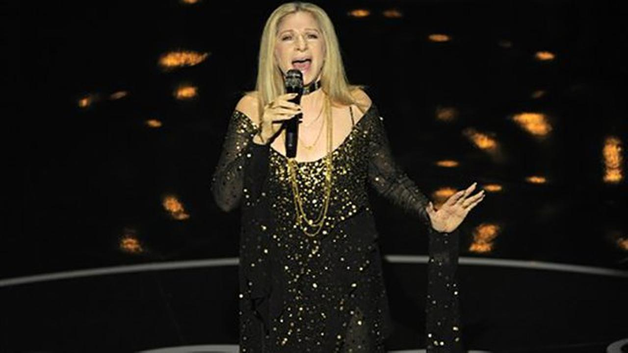 Barbra Streisand performs The Way We Were during the Oscars at the Dolby Theatre on Feb. 24, 2013, in Los Angeles. (Photo by Chris Pizzello/Invision/AP)