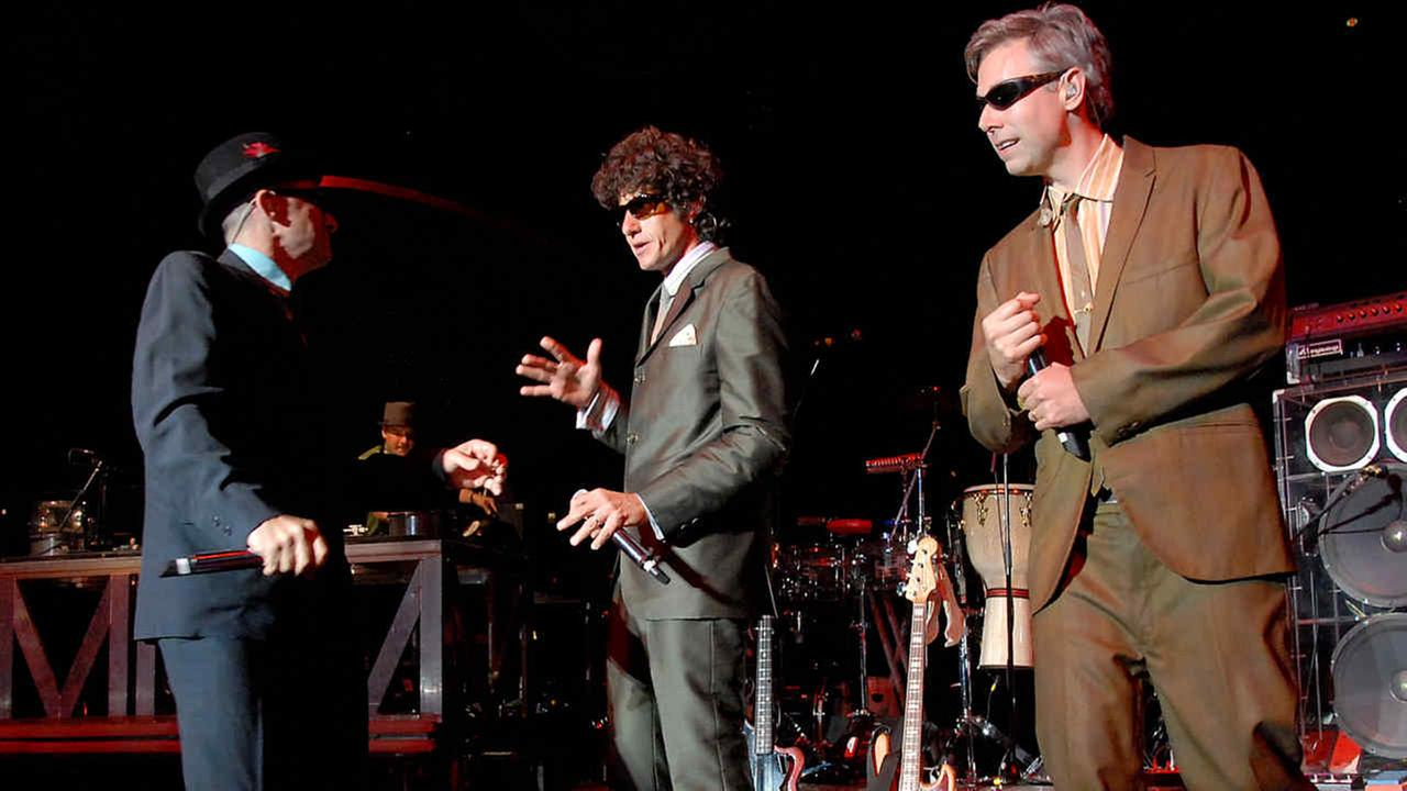 Rappers Adrock, MCA and Mike D of the rap group The Beastie Boys performs at The Greek Theatre in Los Angeles on Monday, Aug. 20, 2007.