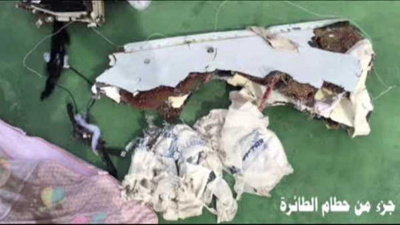 The first photos of EgyptAir 804 debris were released.