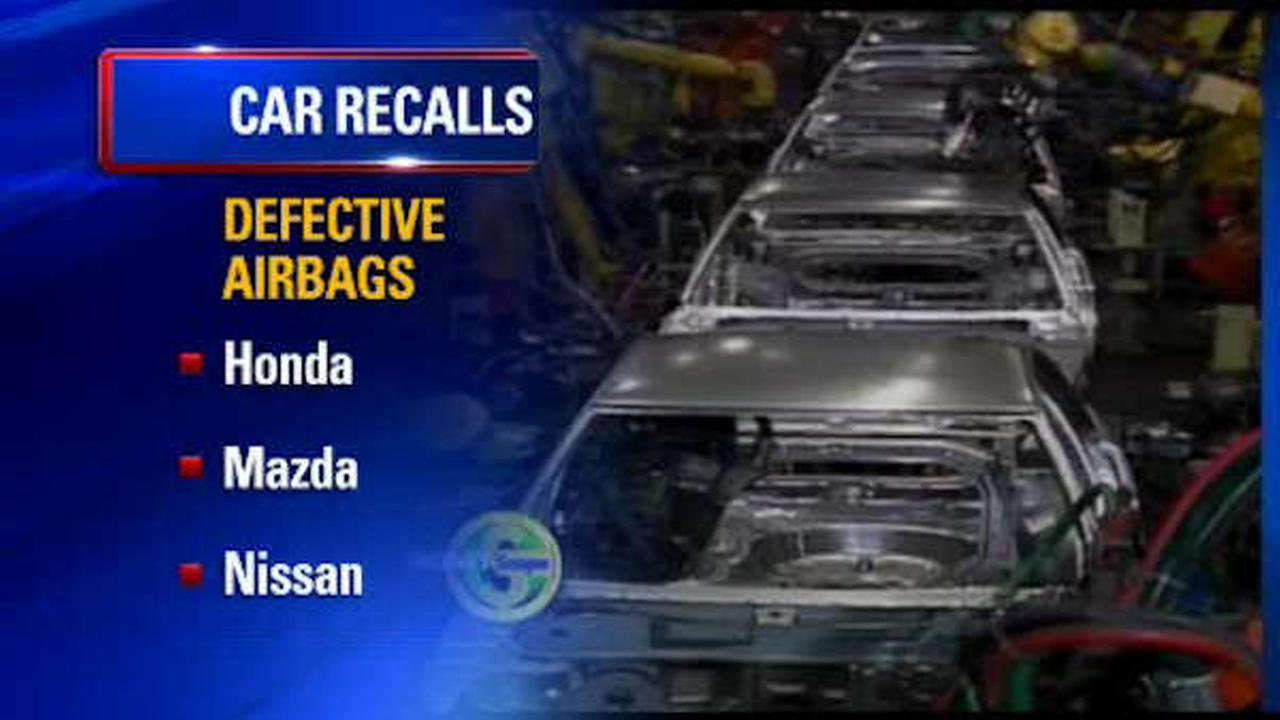Honda, Mazda, Nissan issue recall over defective airbags