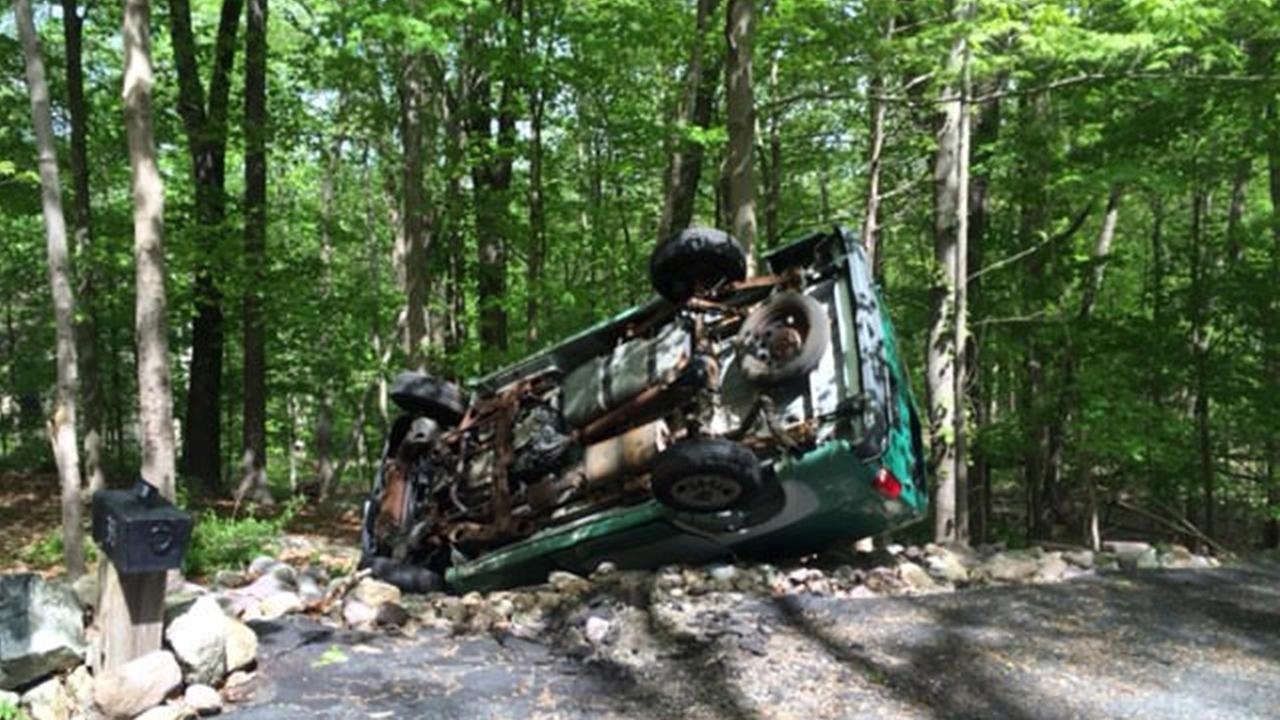 Boonton police: 13-year-old flips van after dad lets him drive