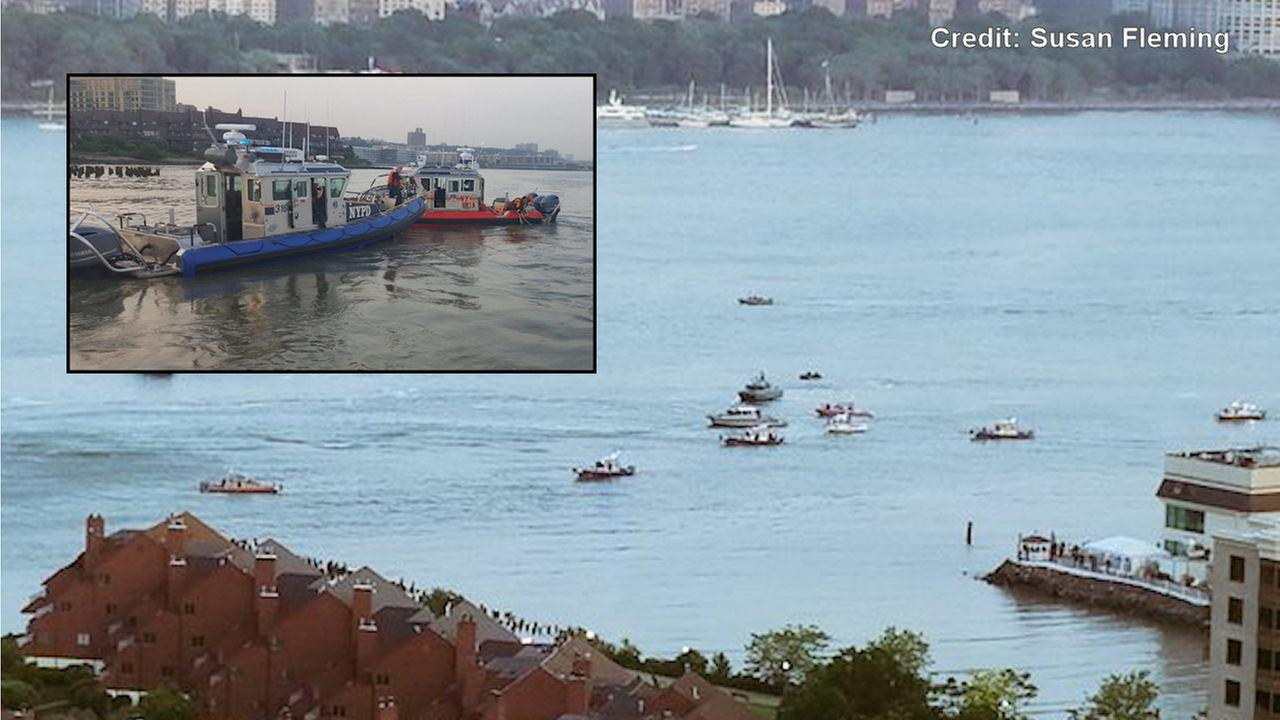 Small plane crashes into Hudson River; pilot's body recovered