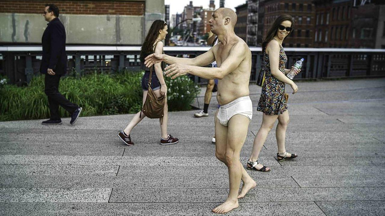 Featured on the High Line: Wandering, Sleepwalking Man or Sculpture?