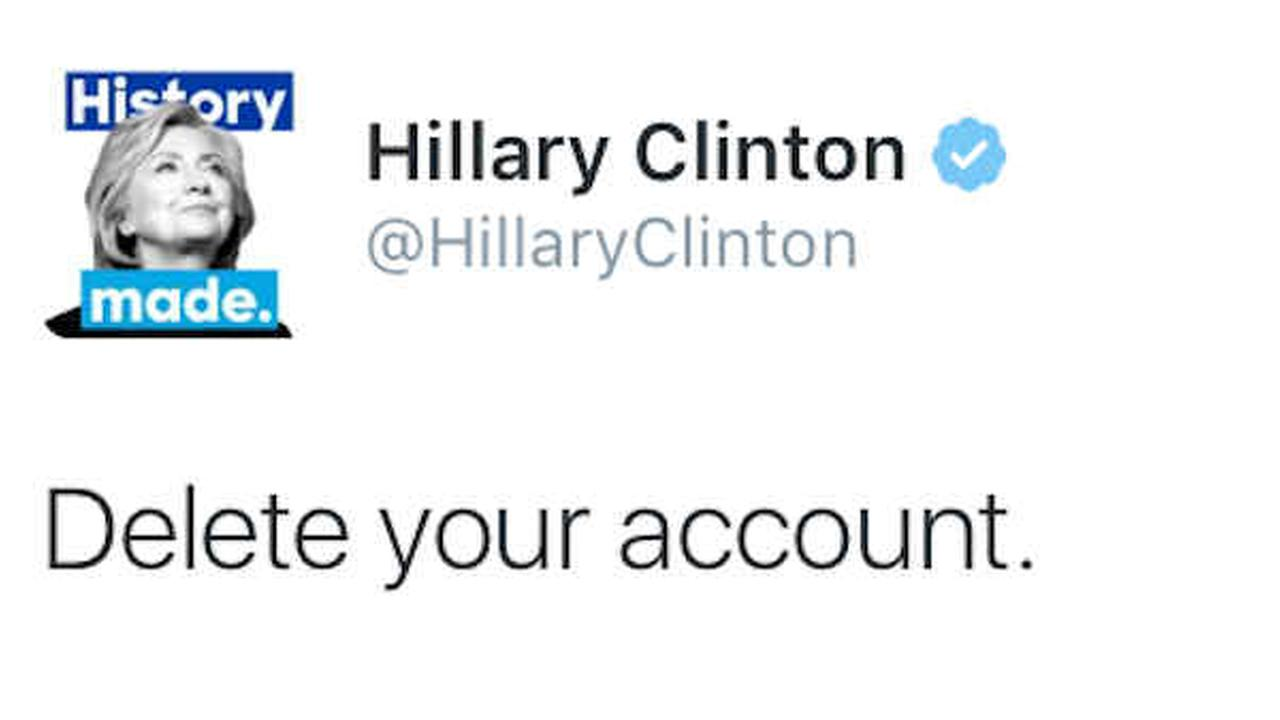 'Delete your account': Hillary Clinton responds to Donald Trump's Twitter attack