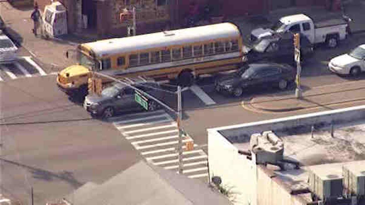 School bus in St. Albans crashes; driver injured
