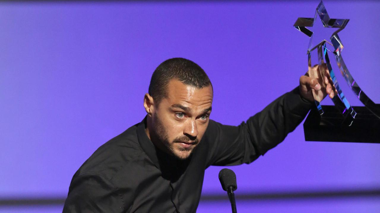Jesse Williams accepts the humanitarian award at the BET Awards at the Microsoft Theater on Sunday, June 26, 2016, in Los Angeles.